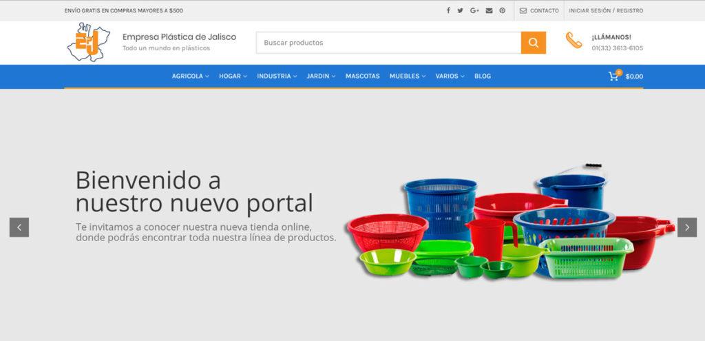 Creación de tiendas online Empresa Plastica